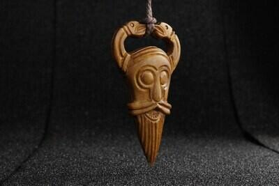 Odin Amulet, Hand Carved, Moose Antlers
