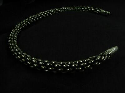 Viking Gotland Twisted Torque / Neck Ring, Alpaca Metal