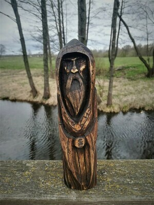 Old Norse Gods, Odin Statue, Wood Hand Carved