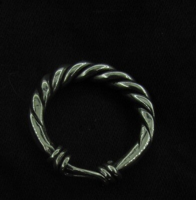 Viking Twisted Ring With Knot, Hand Forged, Silver