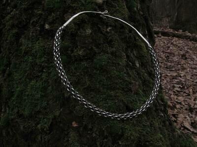 Viking Denmark Type Twisted Torque / Neck Ring, Silver, Handmade