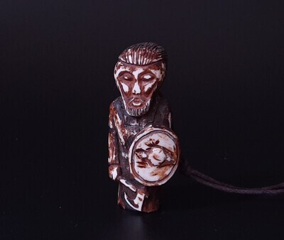 NEW Ragnar Lothbrok Figurine, Pendant, Antlers Hand-Carved