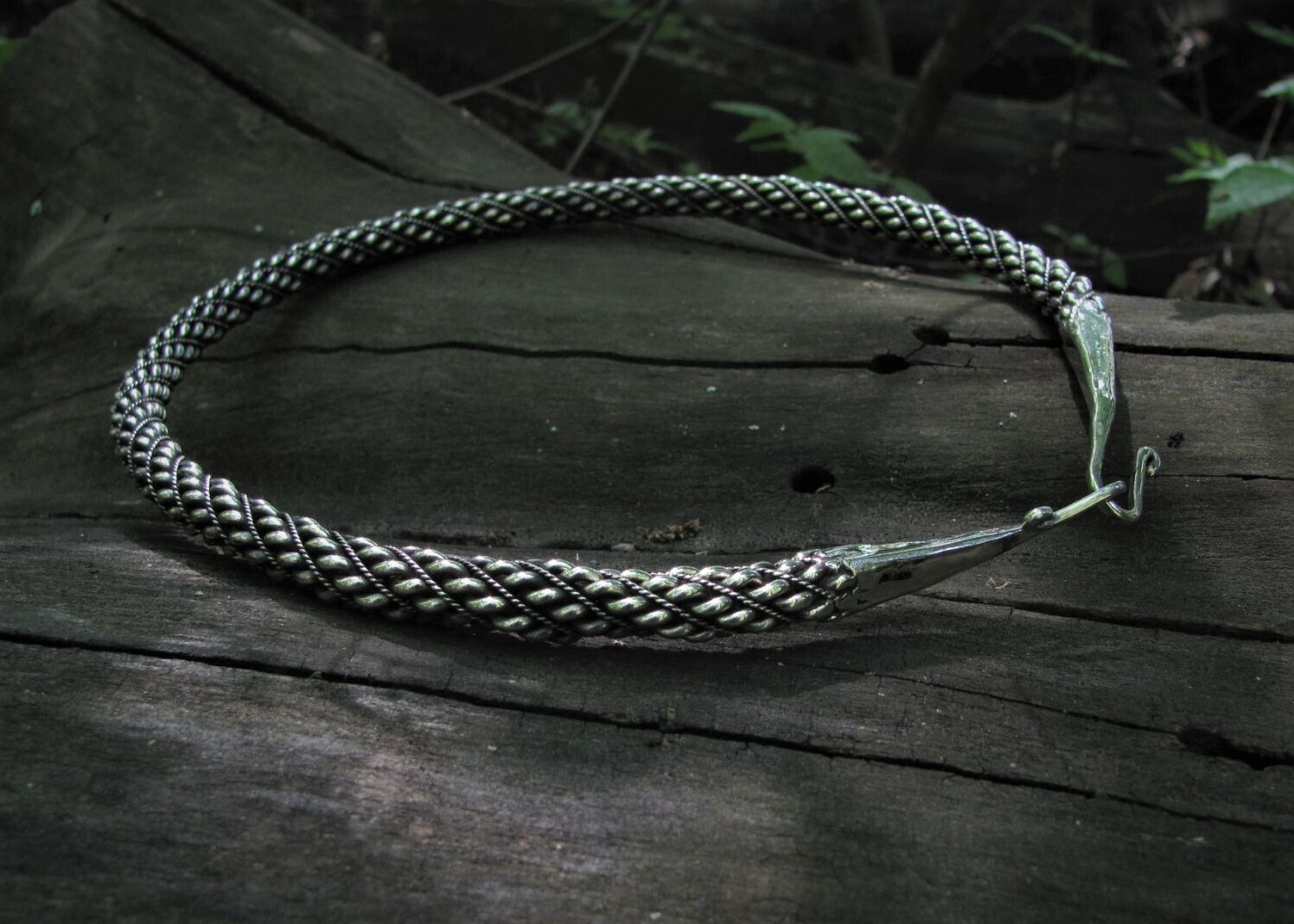 Classic Shape Twisted Viking Torque / Neck Ring, Hand Forged