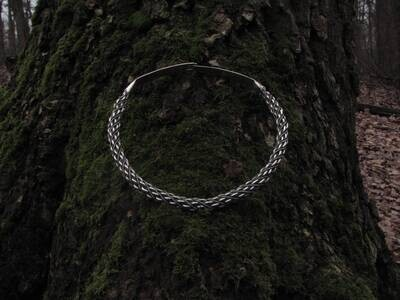 Denmark Type Twisted Viking Torque / Neck Ring, Hand Forged