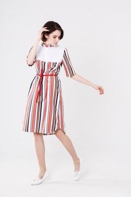 Платье STRIPED DRESS MLT