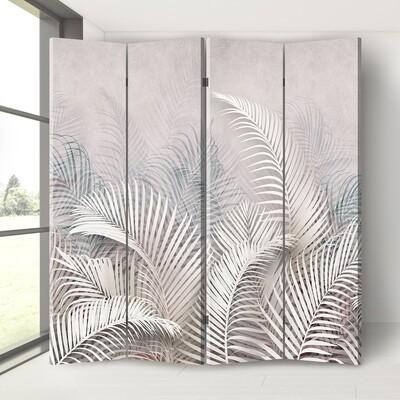 Шикарна декоративна ширма перегородка - Тропічне пальмове листя.