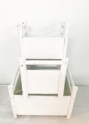 White Flower Boxes