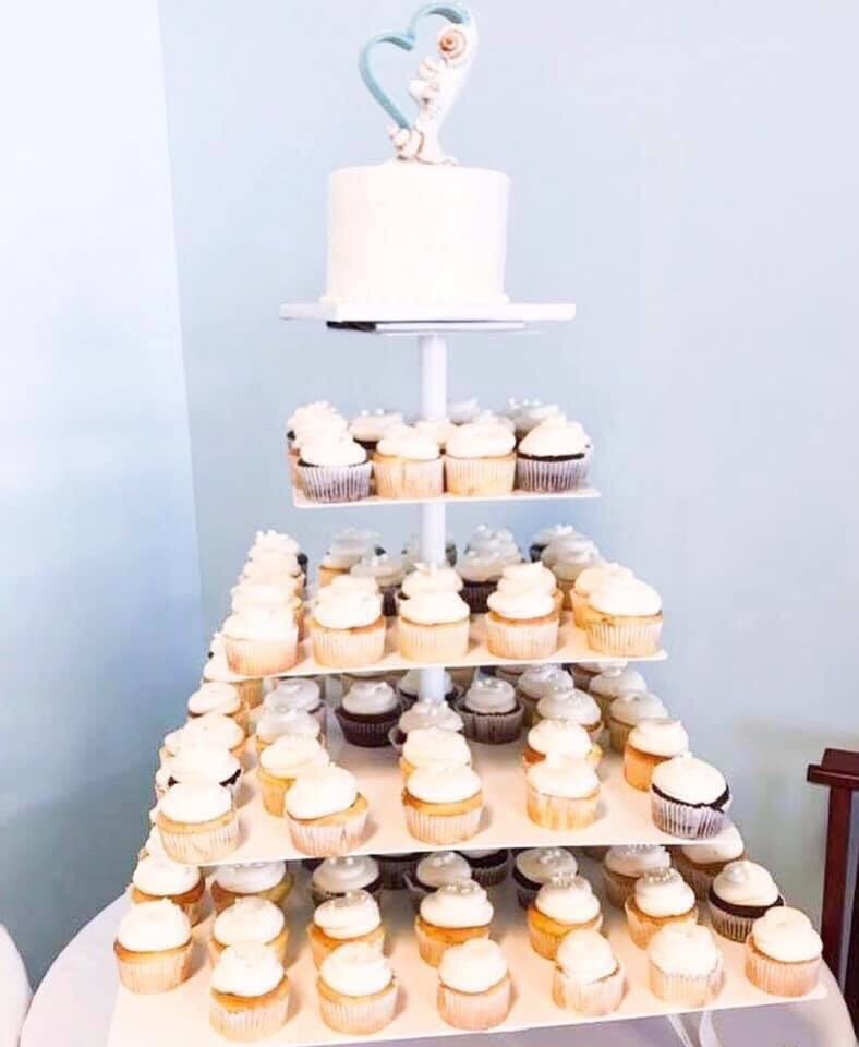 Large White Cupcake Stand