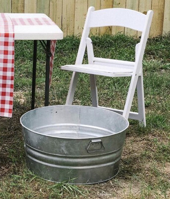 Galvanized Container/handle- Large