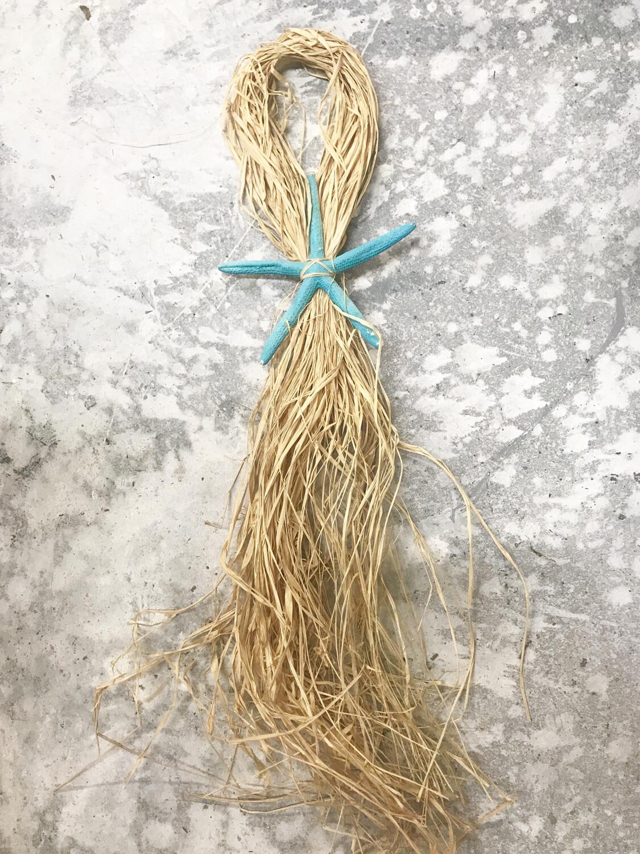 Raffia w/ Starfish Tie Back