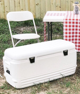 Large White Cooler (120 Quarts)