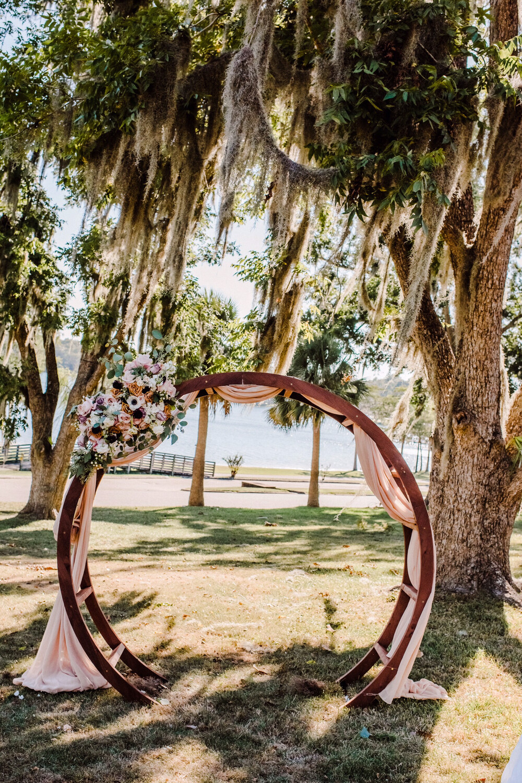 Wooden Circle Arbor