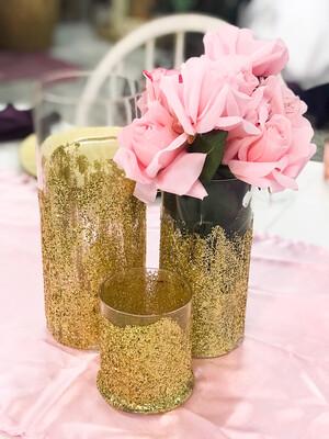 Cylinder Vase - Gold - 3.5