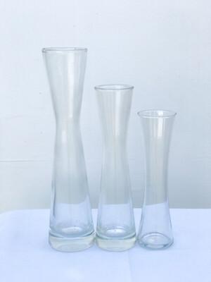 Hourglass Shaped Glass Vase