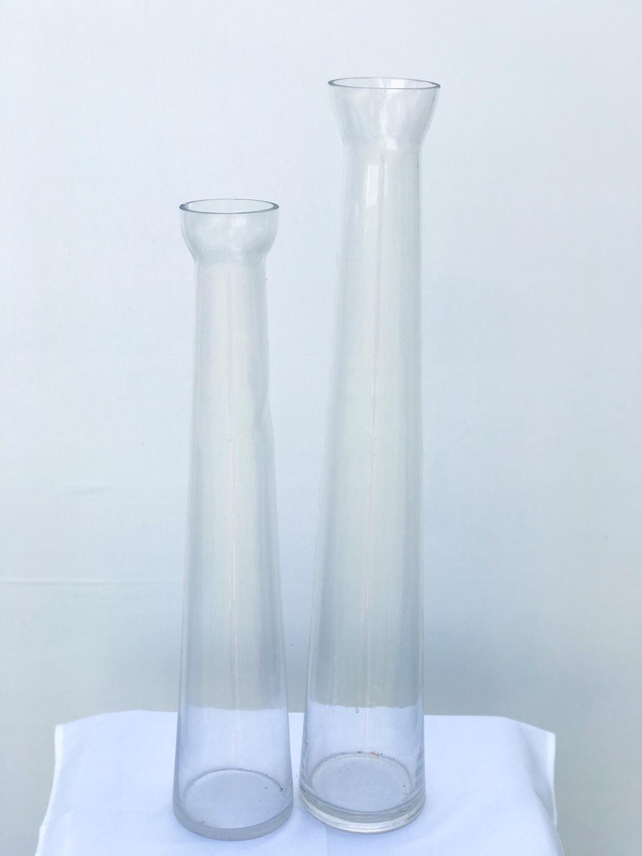 Flared Rim Glass Cylinder Vase