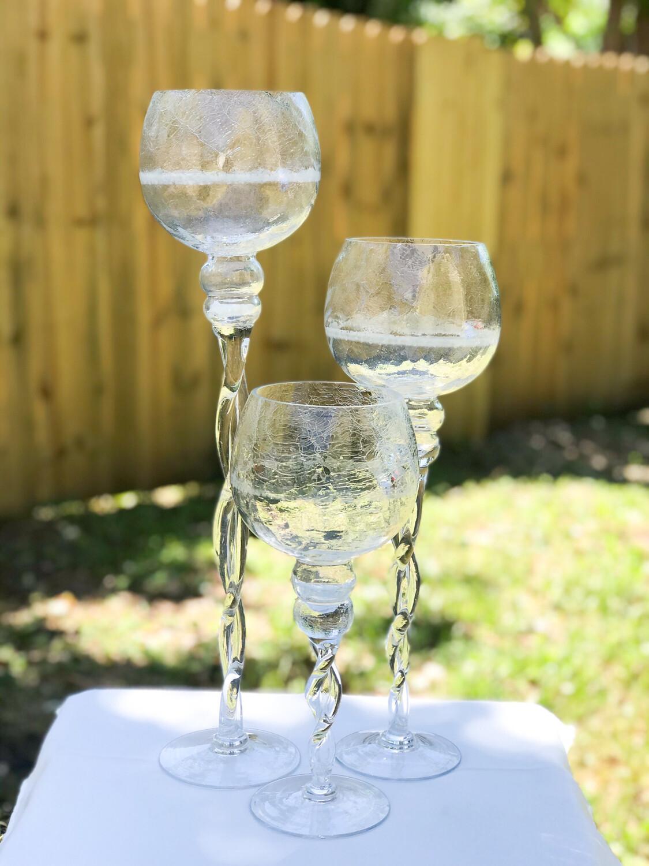 Crackled Wine Glass Vase