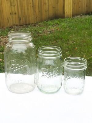 Plain Mason Jars