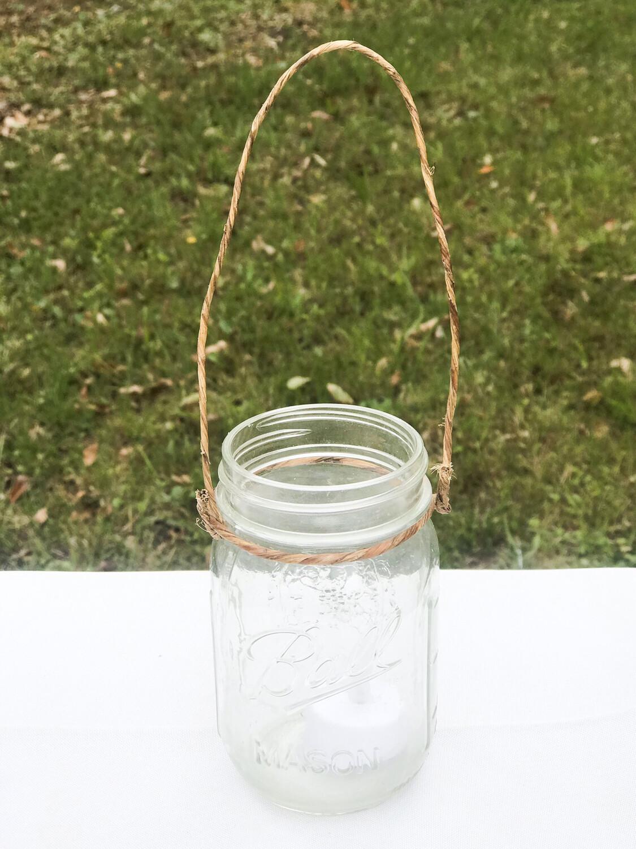 """5"""" hanging Mason Jar"""