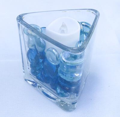 Triangular Glass Vase 3
