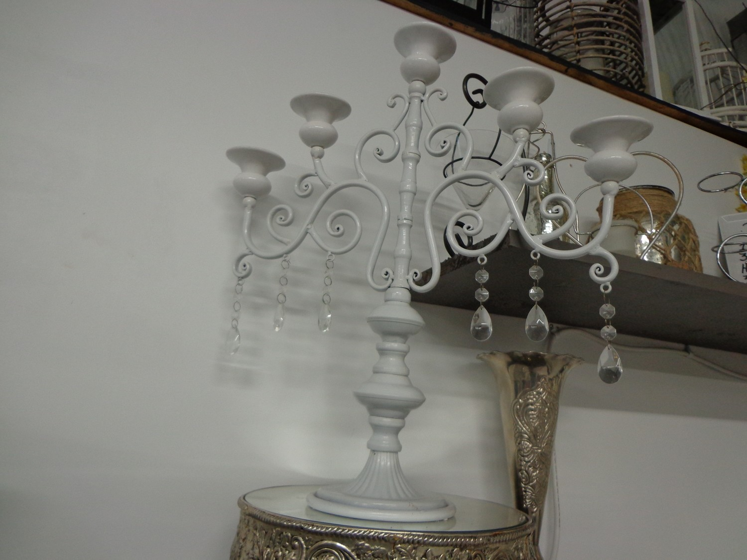 5L White with Crystals Tableabra