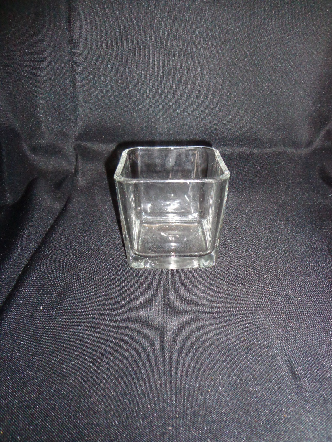 "Rectangular Glass Vase 6"" Tall 6"" by 3"" Wide"