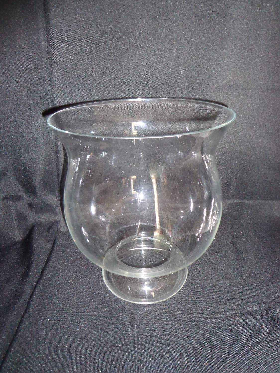 """Glass Vase 11"""" Tall 9"""" Wide"""