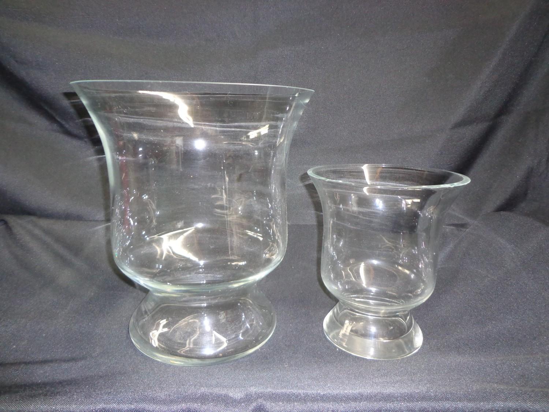 "Goblet Glass Vase 8.5"" Tall 7.5"" Wide"