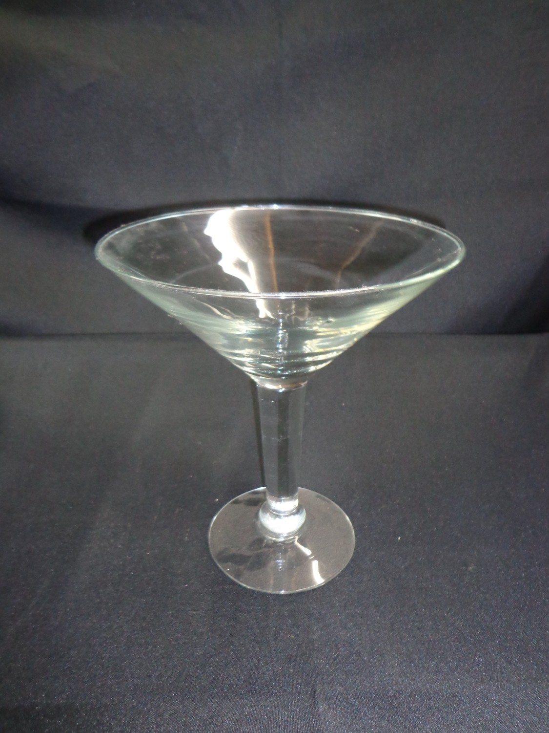 """Martini Glass Vase - Clear 10"""" Tall 9.5"""" Wide"""