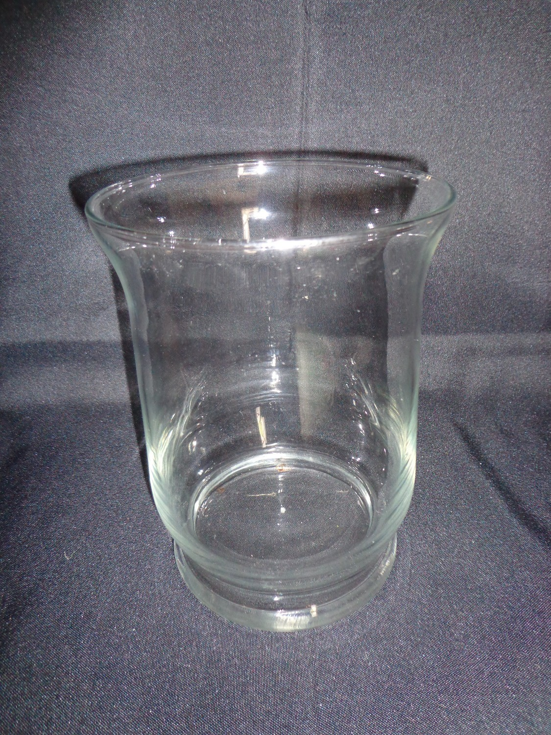 """Glass Vase 8"""" Tall 6"""" Wide"""
