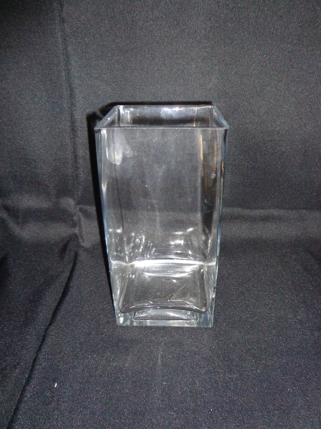 """Square Glass Vase 8"""" Tall 4"""" Wide"""
