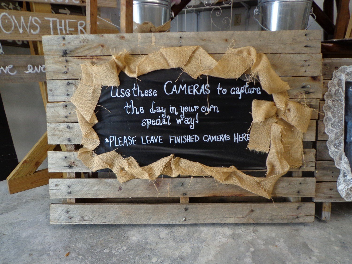 Pallet with Chalkboard