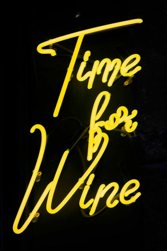 Time For Wine | Neon Bar Sign
