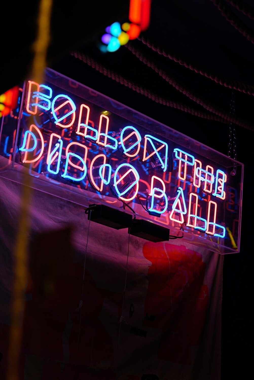 Follow the Disco Ball Neon Artwork | Neon Light Sign