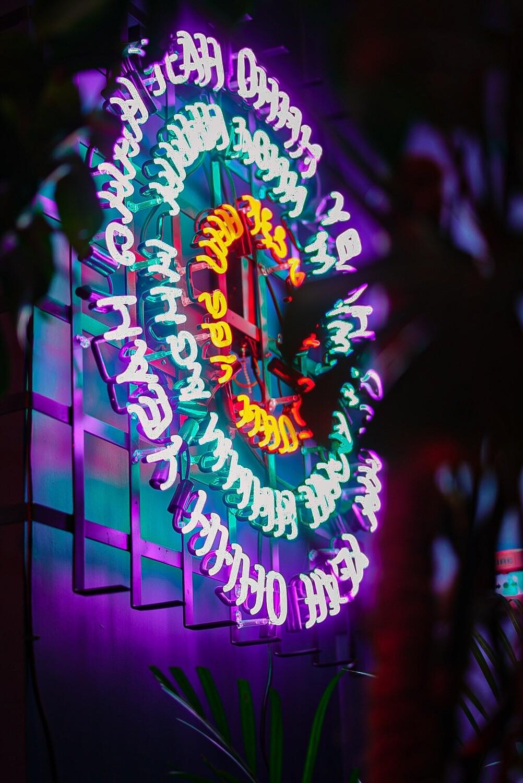 OH YEAH! Neon Artwork - Circle Neon Light Artwork
