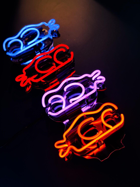 Skeleton TMNT's   Neon Ninjas Artwork   Neon Light Sign