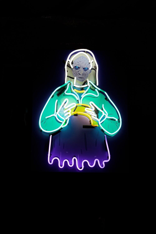 Neon Light Artwork - Night King - Game of Thrones Neon Sign
