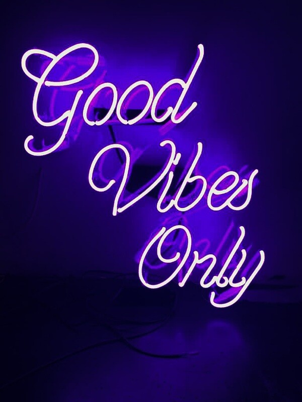 Neon Bar Sign - Good Vibes Only