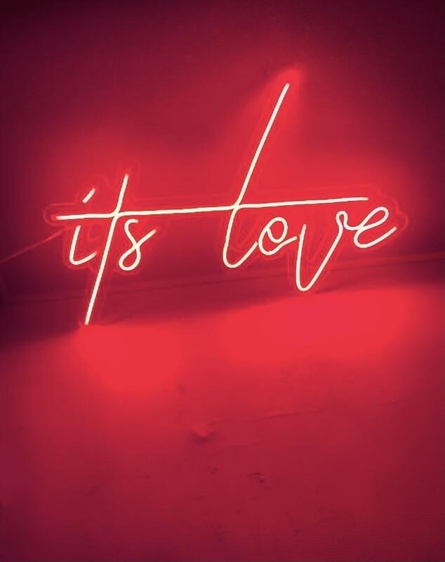 LED Neon Light - It's Love Neon Bar Sign