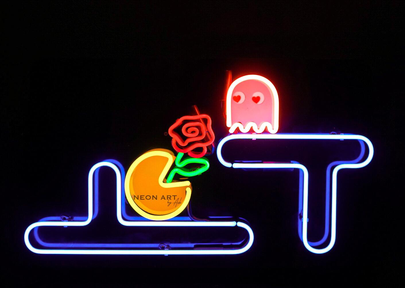 PAC-MAN Neon Artwork   Neon Light Sign