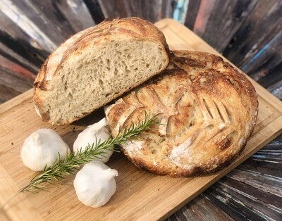 Rosemary Garlic Sourdough Boule (WEDNESDAY ONLY)