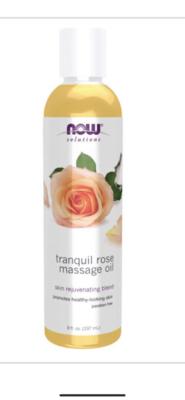 Tranquil Rose Massage Oil 237 Ml