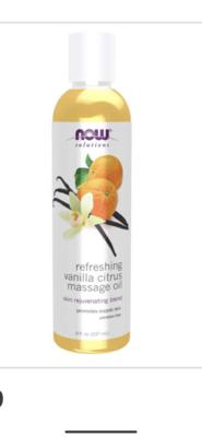 Vanilla Citrus Massage Oil 237Ml