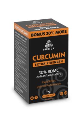 Curcumin Extra Strength Bonus Size 72 Vegan Caps