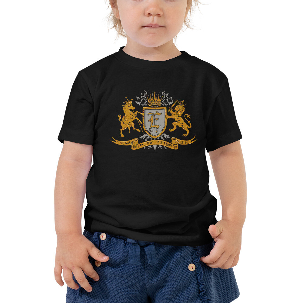 """Music Was The Lamb That Made A Lion Out Of Me"" Toddler Short Sleeve Tee"