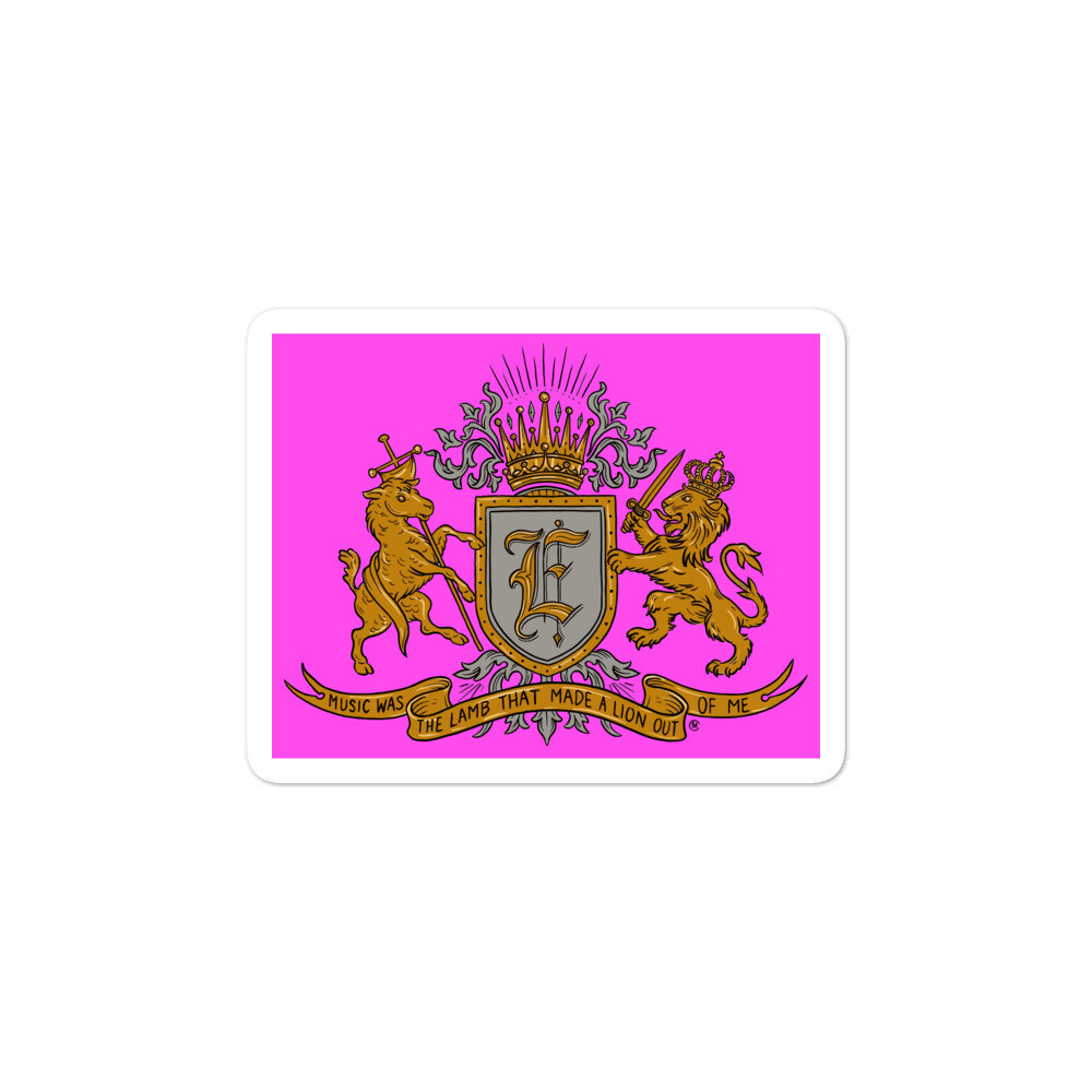 Swallow Me Coat of Arms Pink Bubble-free sticker