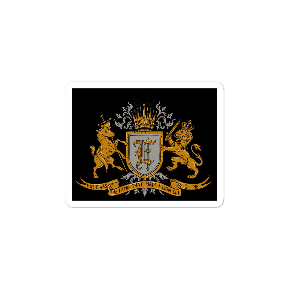 Swallow Me Coat of Arms Black Bubble-free sticker