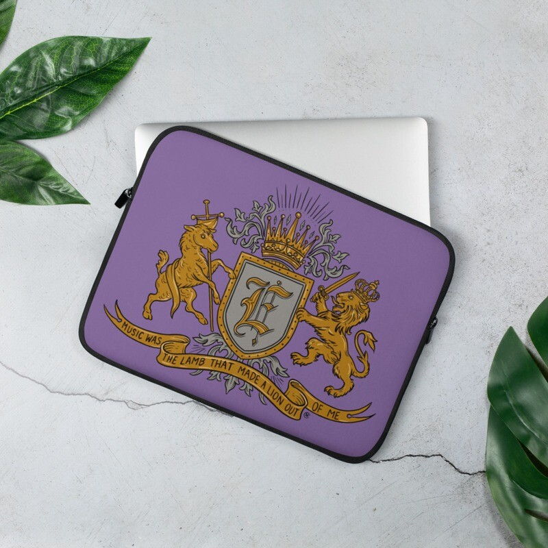 Swallow Me Coat of Arms Purple Laptop Sleeve