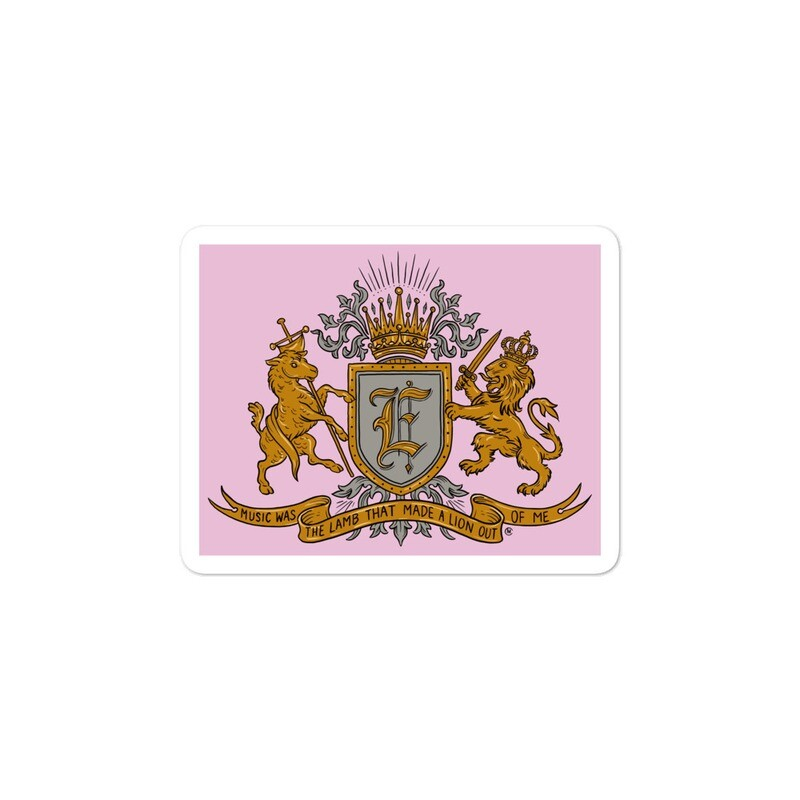 Swallow Me coat of Arms Light Pink Bubble-free sticker