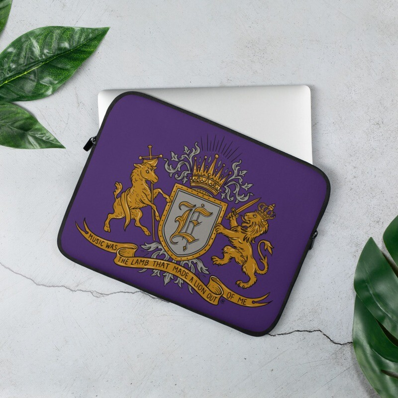 Swallow Me Coat of Arms Royal Purple Laptop Sleeve
