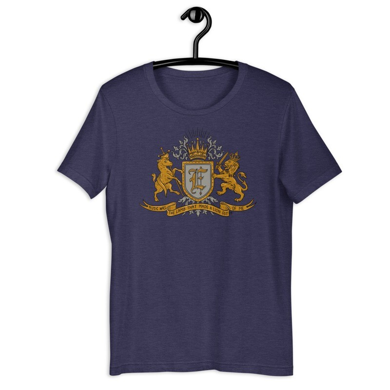 """""""Music Was The Lion That Made A Lamb Out Of Me"""" Unisex T-Shirt"""